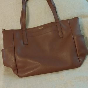 RELIC Brown Leather Tote